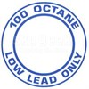 "AeroGraphics AG-FUEL-002 3"" ""100LL Octane Only"" Round Decal"