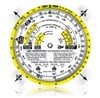 APR Industries PCP-202 Time/Speed/Distance Computer with Protractor Plotter - Plastic