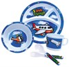 "Born Aviation TW-KTW ""I Love Flying"" Childrens Airplane Tableware Set"