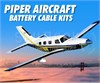 Piper Low Loss Aircraft Battery Cable Kits
