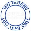 """AeroGraphics """"AVGAS 100LL OCTANE LOW LEAD ONLY"""" Placard"""