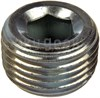 Military Standard MS27769S3 Crescent Steel Plug, Pipe